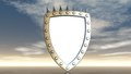 Shield with prickles Royalty Free Stock Images