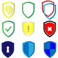 Shield Set Logo Security. Vector Eps10