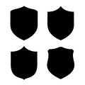 Shield shape shapes set on white background Royalty Free Stock Photography