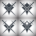 Shield and sword icons