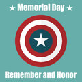 Shield with USA Memorial Day icon. Protect privacy Illustration, badge icon