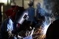 Shielded metal arc welding Royalty Free Stock Photo