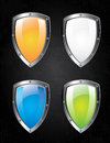 Shields design over black background vector illustration Royalty Free Stock Photography