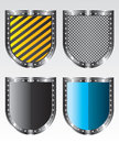 Shields icons illustration Royalty Free Stock Images