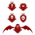 Shields shield emblem templates on white background illustration Royalty Free Stock Photos