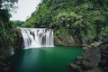 Shifen Waterfall in Pingxi District, New Taipei, Taiwan. Royalty Free Stock Photo