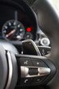 Shift picks multifunction steering wheel,shift Royalty Free Stock Images