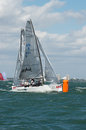 Shimmer beats bacio to the leeward mark miami november two days of no air at first event of audi melges winter series in miami Royalty Free Stock Image