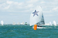 Shimmer at the leeward mark miami november owned by russell lucas won audi melges winter series event in miami event is a primer Stock Image