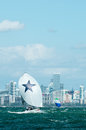 Shimmer shines in miami november russell lucas of won the audi melges winter series event beating boats from as far as canada and Royalty Free Stock Photo