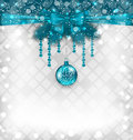 Shimmering background with christmas traditional elements illustration Royalty Free Stock Photography