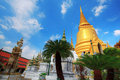 Shimmering Golden Chedi at Wat Phra Kaew Royalty Free Stock Image