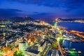 Shimonoseki, Japan Skyline Royalty Free Stock Photo