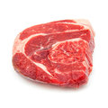 Shin of beef meat isolated on a white studio background uncooked organic Royalty Free Stock Images