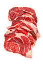 Shin of beef meat isolated on a white studio background uncooked organic Royalty Free Stock Photography