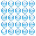 Shine Glass Icons Stock Photos