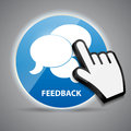 Shine glossy computer icon feedback with mouse Royalty Free Stock Photo
