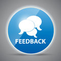 Shine glossy computer icon feedback vector Royalty Free Stock Photo
