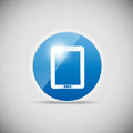 Shine glossy computer icon vector illustration this is file of eps format Royalty Free Stock Images