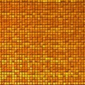 Shine mosaic background made of golden cubes or texture d illustration Stock Photo