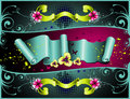 Shine tape floral vector  Royalty Free Stock Photos