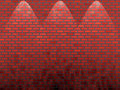 Shined red brick wall Stock Photo