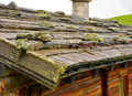 Shingle roof in alps austria Stock Image