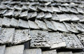 Shingle roof pattern Stock Photo