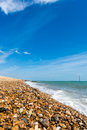 Shingle shore beach a in the united kingdom Stock Images