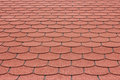 Shingle a view of red asphalt Royalty Free Stock Image