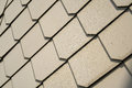 Shingles as wall cladding on the facade of a house Stock Image