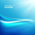 Shining blue flow vector illustration contains transparencies gradients effects Stock Photography