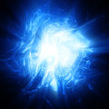Shining blue plasma Royalty Free Stock Photo