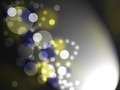 Shining bubbles on black background blue and yellow Royalty Free Stock Photography