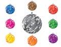 Shining disco ball Royalty Free Stock Photo