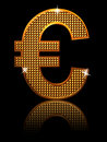 Shining euro sign Stock Photo