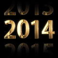 Shining golden new year background Stock Image