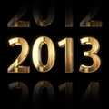 Shining golden new year background Stock Photography