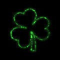 Shining green trefoil Royalty Free Stock Photography
