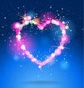 Shining heart Royalty Free Stock Photo