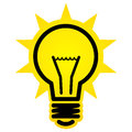 Shining light bulb icon Royalty Free Stock Photo
