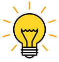 Shining light bulb Royalty Free Stock Photo