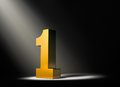 Shining a Light On Number One! Royalty Free Stock Images