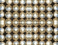 Shining metallic balls abstract background suitable as symmetrical Royalty Free Stock Image