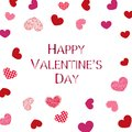 Shining and retro Valentine`s hearts. Beauty Happy Valentine`s day greeting card Royalty Free Stock Photo