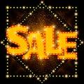 Shining sale background on black