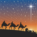 Shining star of Bethlehem. Stock Photos