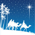 Shining star of Bethlehem. Royalty Free Stock Photo
