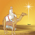 Shining star of Bethlehem. Stock Images