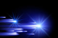 Shining stars and neon strips glowing background with Royalty Free Stock Photo